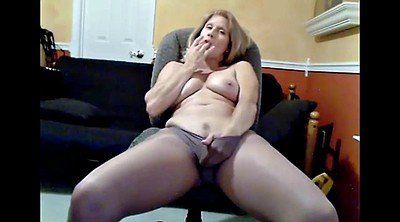 Pantyhose, Pantyhose mature, Mature webcam, Wide open, Open