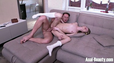 Sofa, Teen redhead, Student anal, Muscular, Anal student
