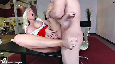 Foot fuck, Alena croft, Milf feet, Secretary
