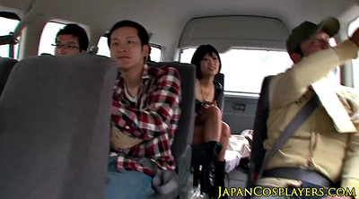 Japanese cosplay, Japanese group, Japanese lucky, Sex in car
