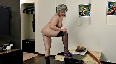 Russian mature, Granny masturbating