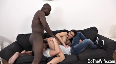 Creampie, Cuckold creampie, Interracial anal, Horny wife