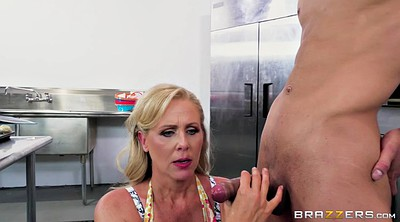 Julia ann, Julia, Mature blowjob, Lick balls, Balls
