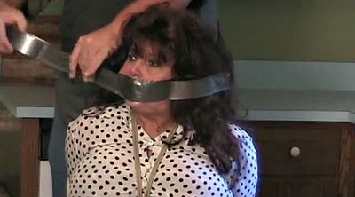 Mature granny, Bound, Blindfolded