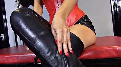 Leather, Boots, Milf boots, Foot lick, Boot