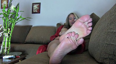 Mature foot, Blonde feet