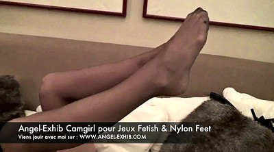 Nylon foot, Leg, Milf foot