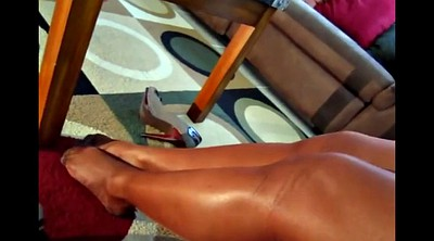 Foot fetish, Nylon foot, Foot compilation, Nylon pantyhose, Leggy, Black pantyhose