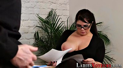Cfnm, Mistress t, Chubby office