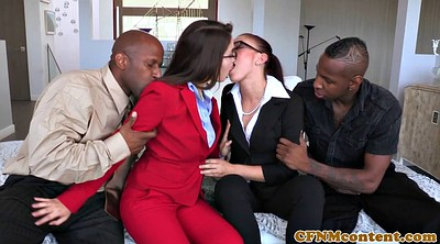 Cfnm, Interracial foursome, Foursome anal, Doggy anal, Costume