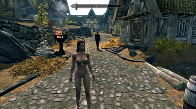 Cartoon, Public bondage, Spanks, Skyrim