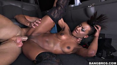 Bus, Ebony, Black cock, In the bus