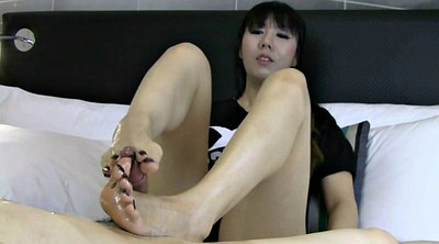 Footjob, Asian feet
