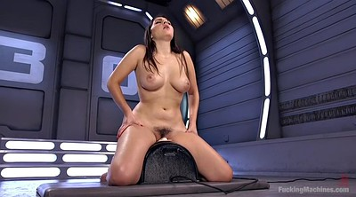 Masturbation orgasm, Hairy solo, Fucking machine