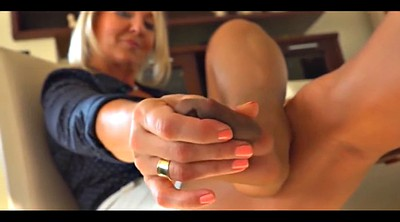 Jerk off, Blonde foot