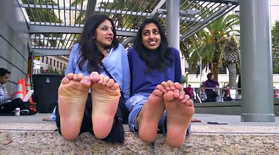 Arab, Arabic, Indian girl, Talk, Foot show