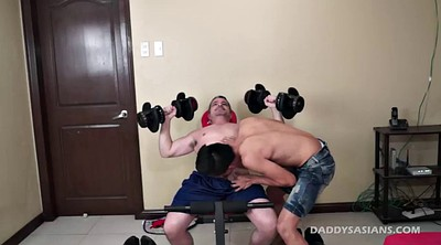 Asian daddy, Caught, Asian old, Bareback gay, Old daddy gay, Asian old daddy