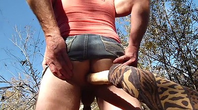 Crossdress, Big fat, Crossdressing, Outdoor sex