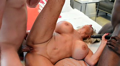 Mature double, Interracial granny, Anal granny, Sally g, Sally, Big tits mature