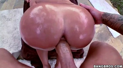 Oil ass, Huge cock, Ass pounding
