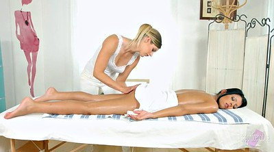Oil massage sex, Lesbian massage