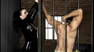 Leather, Latex bondage, Dominatrix, Nipples, Anastasia, Raven