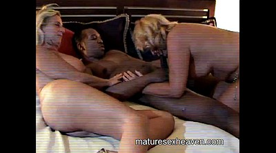 Granny threesome, Interracial granny, Amateur threesome