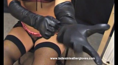 Femdom, Leather, Glove, Gloves, Latex glove