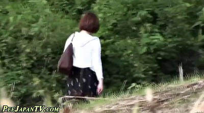 Japanese outdoor, Peeing public, Public caught, Japanese sexy
