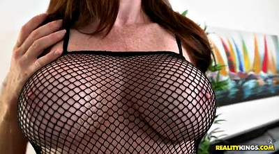 Fishnet, Busty mom, Tease
