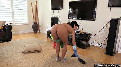 Breast, House, Latina maid