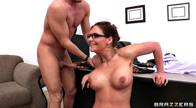 Glasses, Phoenix marie, Bbw threesome, Two cock, Two blowjob, Offices