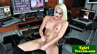 Solo shemale, Striptease, Shemale cumshots, Huge tits solo