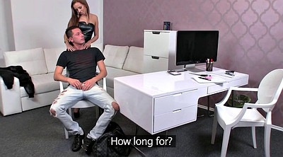 Boss, Boss fuck, Office handjob, Leather fuck