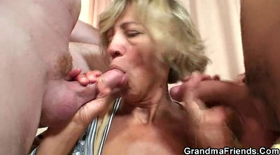 Swallow, Swallowed, Granny threesome
