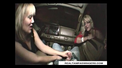 Mature swingers, Mature handjob, Mature swinger, Car handjob