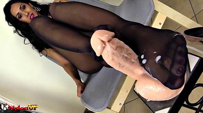 Footjob, Black foot, Pantyhose feet, Mistress t, Black feet, Mistress foot