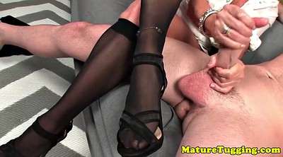 Mature, Mature stockings, Stockings masturbation