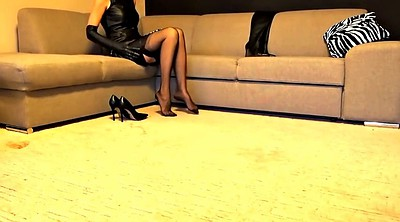 Leather, Heels, High heels, Stock