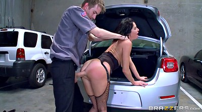 Car, Fishnet, Ass hole, Veronica avluv, Brunette