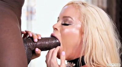 Monster cock, Monster, Throat fuck, Black monster cock, Milf interracial