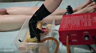 Mistress, Slave milking, Latex mistress