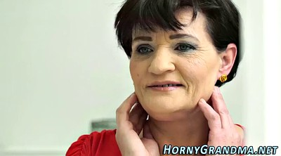 Big mature, Granny facial