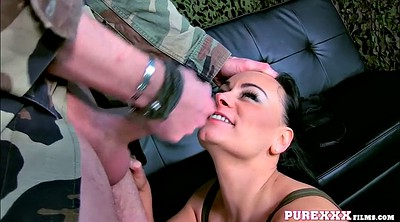 Soldier, Piercings, Milf eva