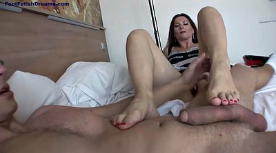 Footjob, Mature handjob, Mature foot