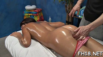Oil massage, From behind