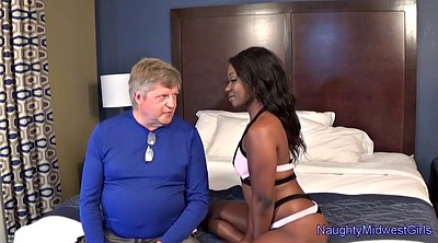 Teen and old, Black stepdad