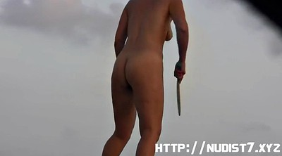 Nudist, Short hair, Nudism, Short, Hair pussy, Public beach