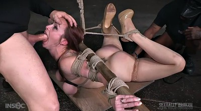 Two black, Tied tits, Threesome black, Tattoo milf, Rope, Ebony bondage