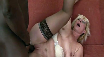 Interracial cum in mouth, Anal granny